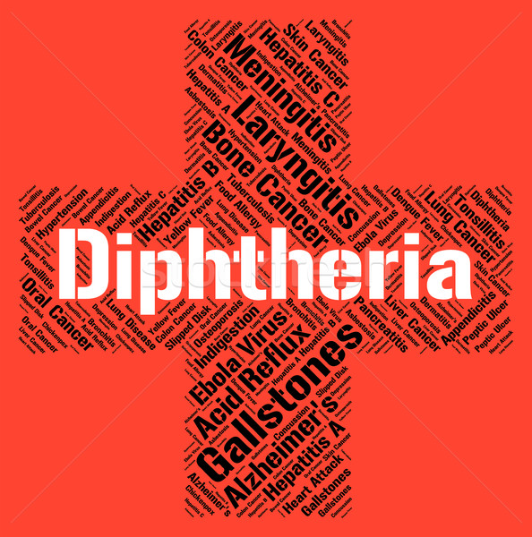 Diphtheria Word Means Corynebacterium Diphtheriae And Affliction Stock photo © stuartmiles