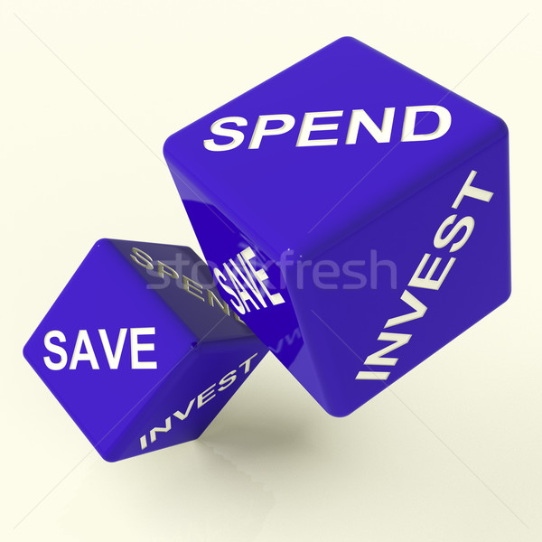 Save Spend Invest Dice Showing Money Choices Stock photo © stuartmiles