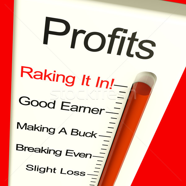 Business Profits Very High Showing Rising Sales And Income Stock photo © stuartmiles
