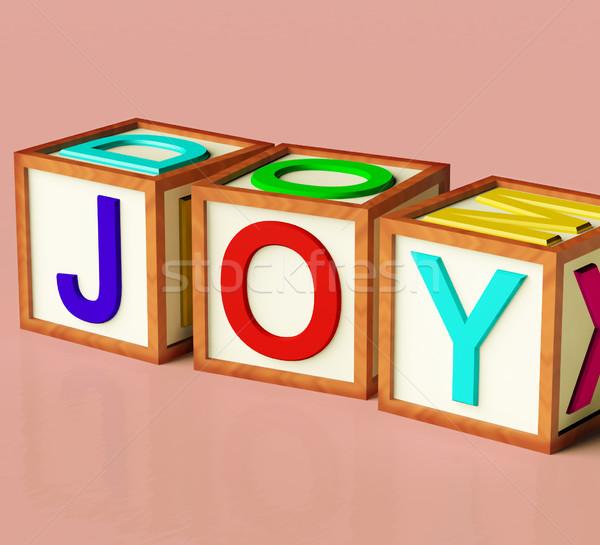 çocuklar bloklar yazım sevinç simge eğlence Stok fotoğraf © stuartmiles