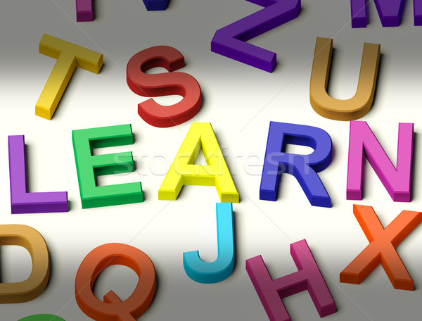 Kids Letters Spelling Learn As Symbol for Study And Education Stock photo © stuartmiles