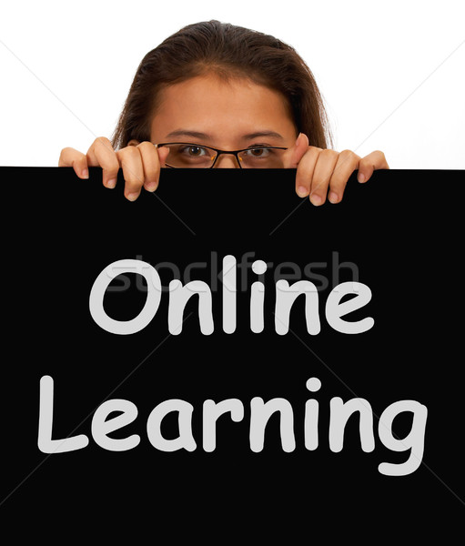 Stock photo: Online Learning Message Showing Web Learning