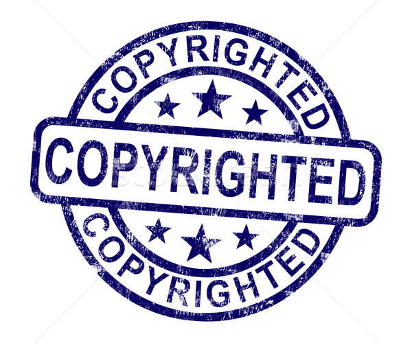Copyrighted Stamp Showing Patent Or Trademark Stock photo © stuartmiles
