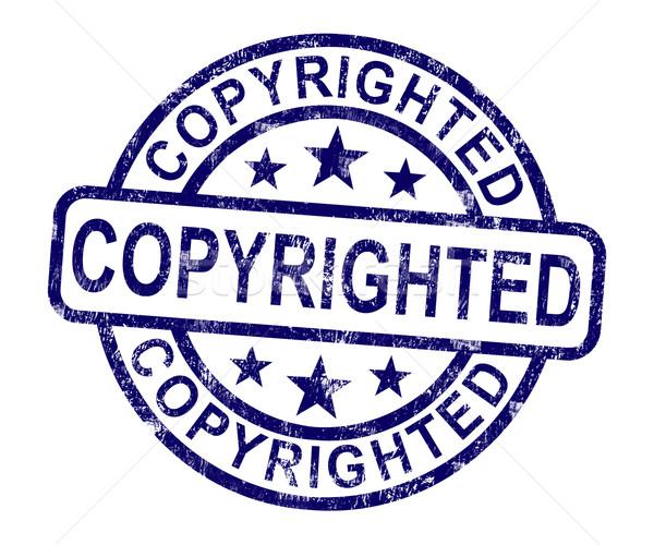 Carimbo patente marca registrada assinar proteção Foto stock © stuartmiles