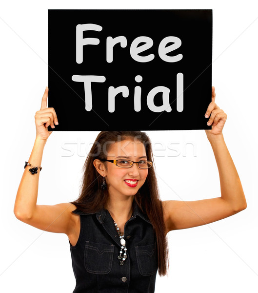 Free Trial Board Shows Special Offer Promotion Stock photo © stuartmiles