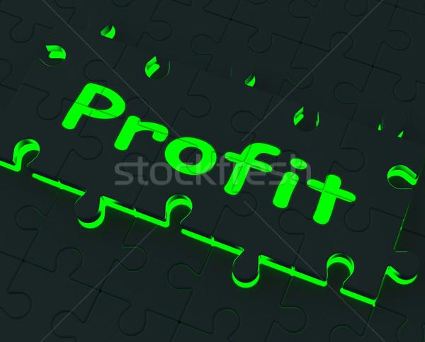 Kâr bilmece kazanç yatırım kârlı Stok fotoğraf © stuartmiles