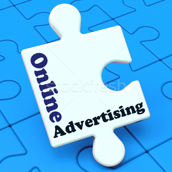 Online Advertising Shows Website Promotions Adverts Stock photo © stuartmiles