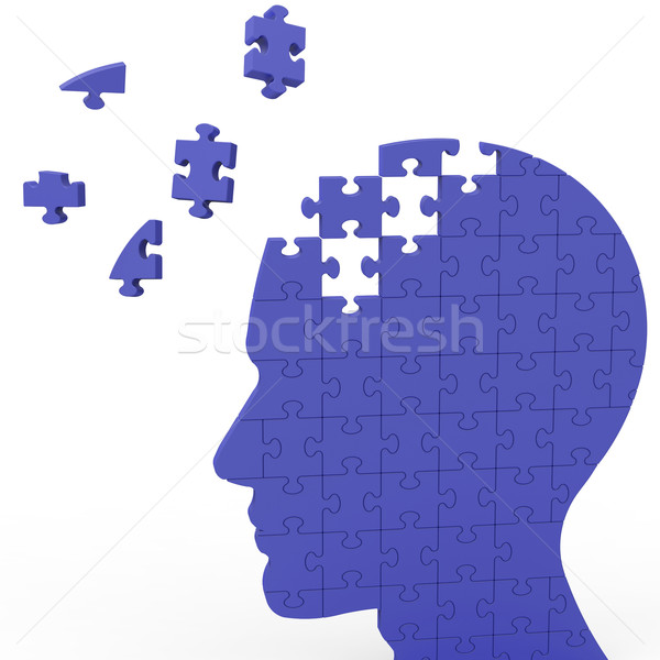 Head Puzzle Shows Slipping Ideas Stock photo © stuartmiles