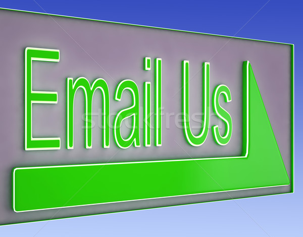 Email Us Button Showing Information Provider Stock photo © stuartmiles