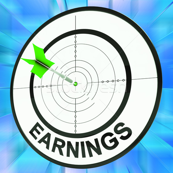Earnings Shows Vocation, Occupation, Employment And Profession Stock photo © stuartmiles