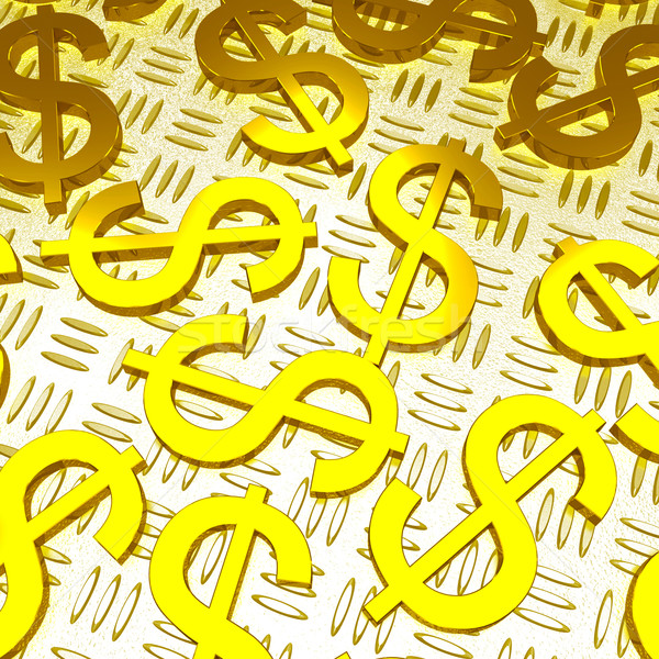 Dollar Symbols Over The Floor Showing American Prosperity Stock photo © stuartmiles