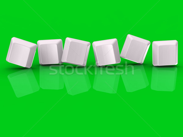 Seis cuadros mostrar carta palabra Foto stock © stuartmiles