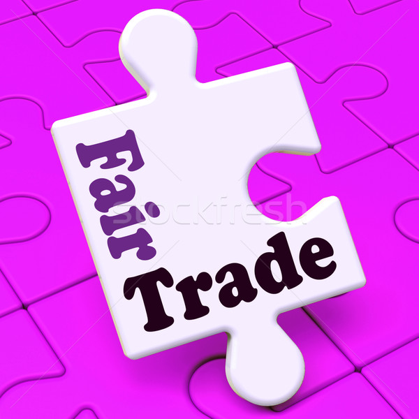 Fairtrade Puzzle Shows Fair Trade Product Or Products Stock photo © stuartmiles