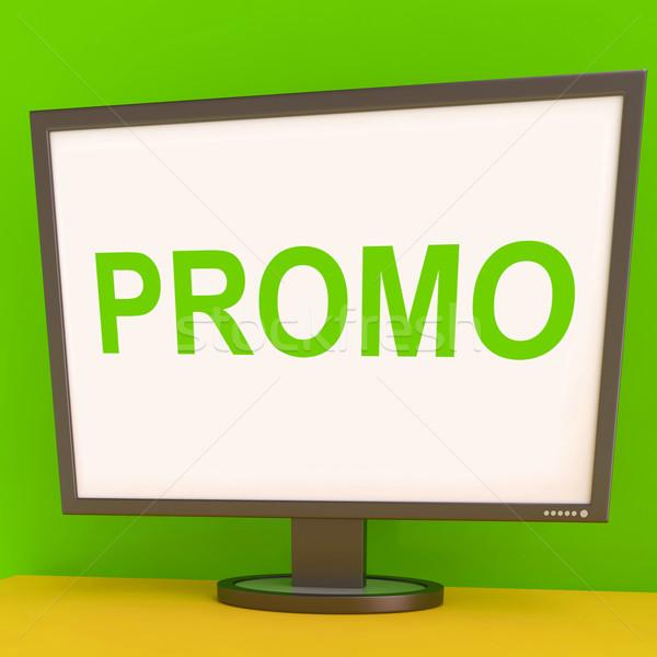 Promo képernyő promóciós mutat háló Stock fotó © stuartmiles