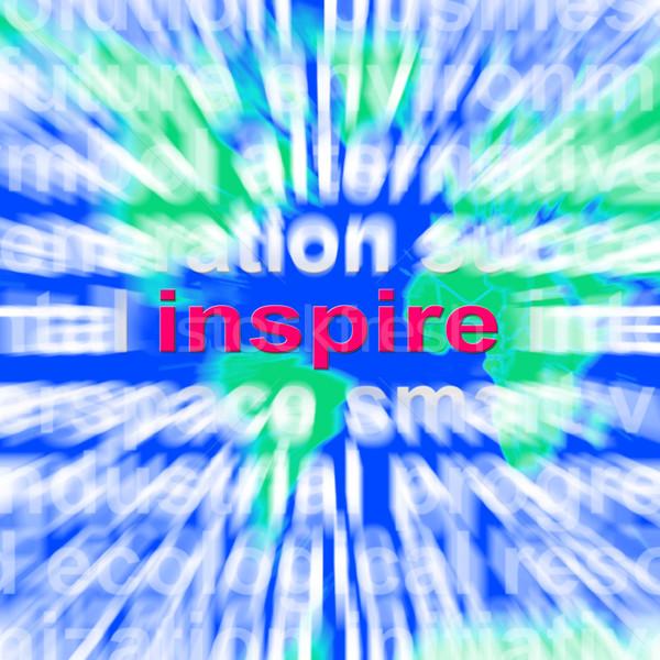 Eingebung Wort-Wolke Motivierung Ermutigung Stock foto © stuartmiles