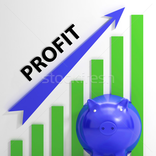 Profit Graph Shows Sales Revenue And Return Stock photo © stuartmiles