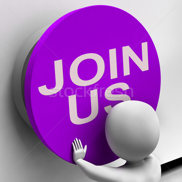 Join Us Button Means Register Volunteer Or Sign Up Stock photo © stuartmiles