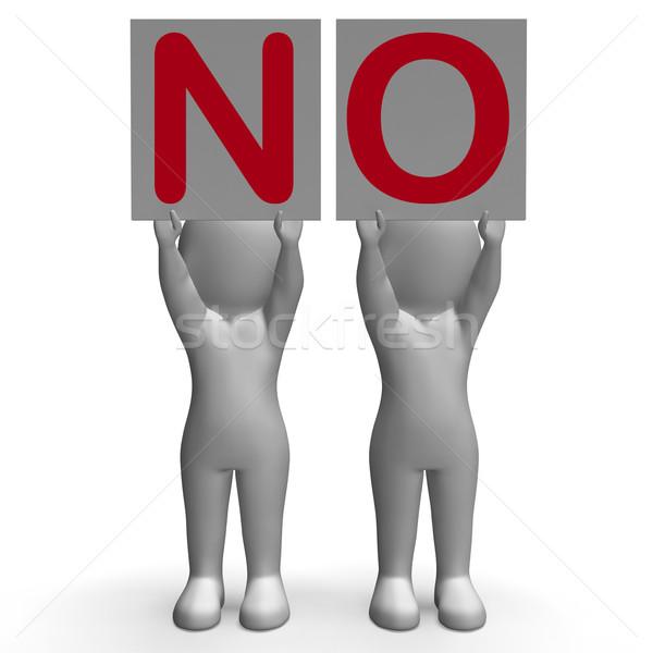 Não banners negação rejeição Foto stock © stuartmiles