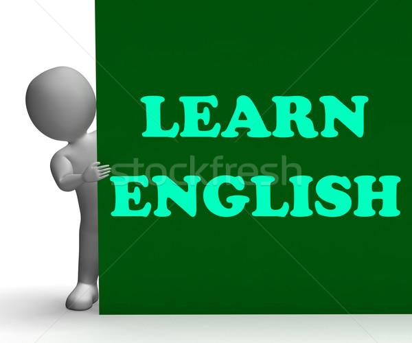 Aprender Inglés signo extranjero idioma ensenanza Foto stock © stuartmiles