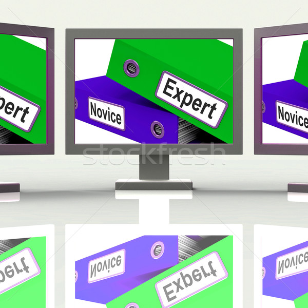 Expert Novice Screen Mean Learner And Advanced Stock photo © stuartmiles