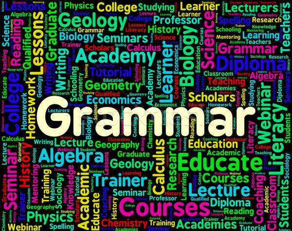 Grammatica woord reglement taal buitenlands tonen Stockfoto © stuartmiles