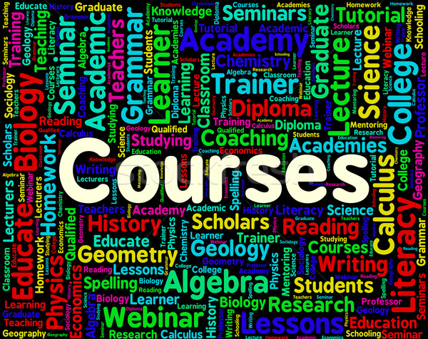 Courses Word Means Words School And Syllabus Stock photo © stuartmiles