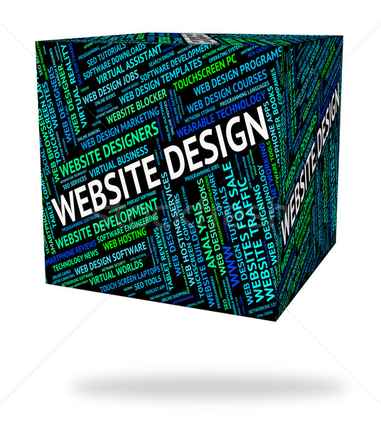Website Design Represents Domain Domains And Designs Stock photo © stuartmiles
