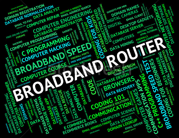 Broadband Router Shows World Wide Web And Communication Stock photo © stuartmiles