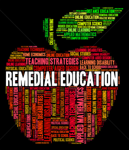 Remedial Education Indicates Study Learning And Learned Stock photo © stuartmiles