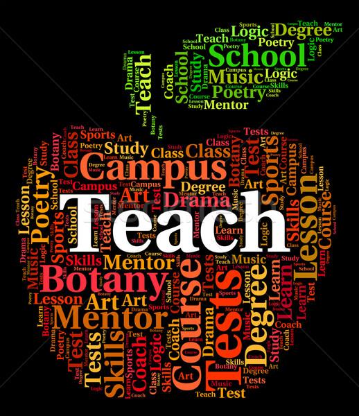 Enseigner mot donner coach apprendre Photo stock © stuartmiles