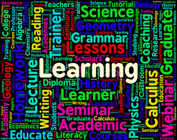 Learning Word Represents Training Develop And Study Stock photo © stuartmiles