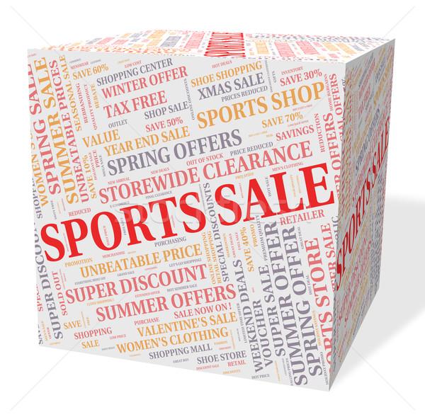 Sportok vásár testmozgás alkalmi vétel kikapcsolódás eladó Stock fotó © stuartmiles