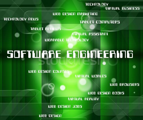 Software engineering tekst toepassing woord mechanica Stockfoto © stuartmiles