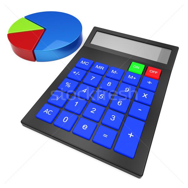 Calculer statistiques simulateur données Photo stock © stuartmiles