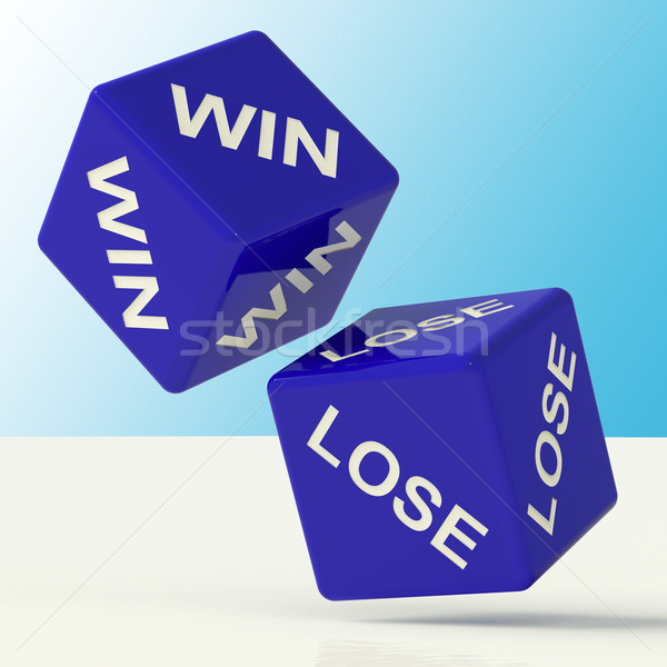 Win Lose Dice Showing The Chances Of Success Stock photo © stuartmiles