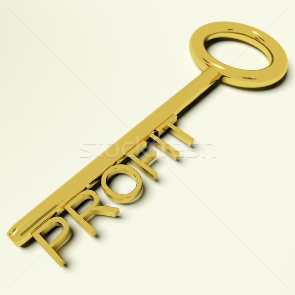 Kâr anahtar pazar ticaret başarı altın Stok fotoğraf © stuartmiles