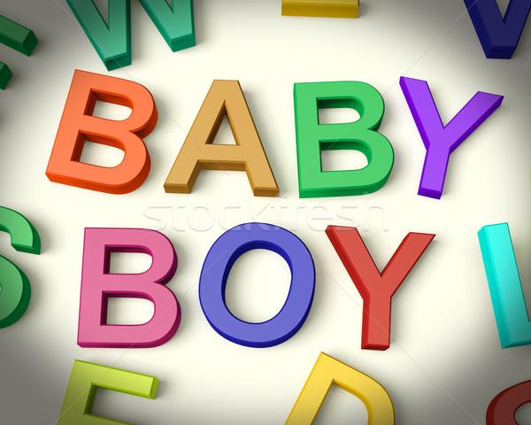 Stok fotoğraf: Bebek · erkek · yazılı · çocuklar · harfler