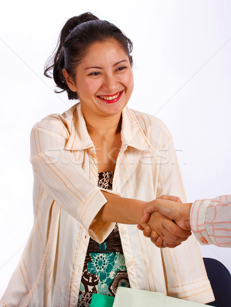 Young asian Woman Shaking Hands Stock photo © stuartmiles