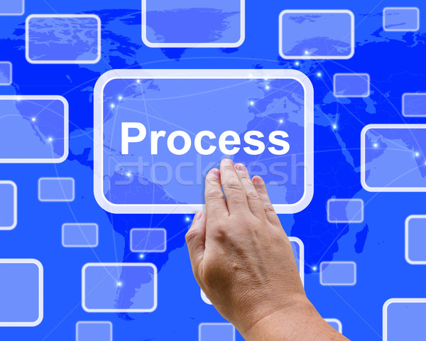 Pushing Process Button Representing Controlling A System Stock photo © stuartmiles