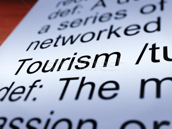Stockfoto: Toerisme · definitie · tonen