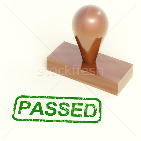 Passed Rubber Stamp Shows Quality Control Approved Stock photo © stuartmiles