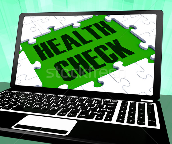 Health Check On Laptop Shows Well Being Stock photo © stuartmiles