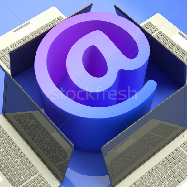 E-mail Symbol Laptops Shows Mailing on Web Stock photo © stuartmiles