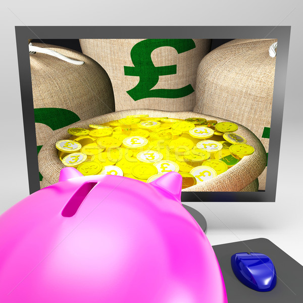 Pound Sacks Shows Sterling Money Financing Profit Stock photo © stuartmiles