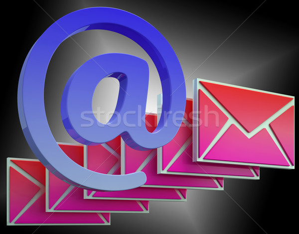 At Sign Envelope Shows Online Mailing Communication Stock photo © stuartmiles