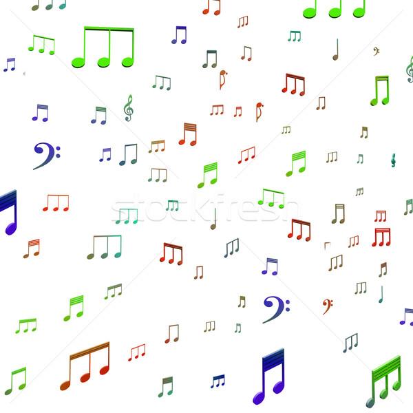 Musical Notes Shows Music Audio Sound Or Entertainment Stock photo © stuartmiles
