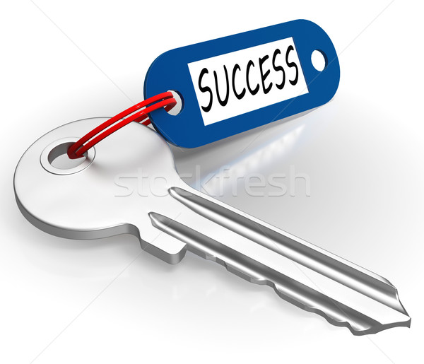Key With Success Word Showing Winning Stock photo © stuartmiles