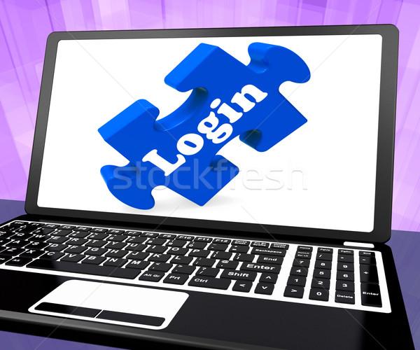 Anmelden Computer Website Benutzername Kennwort Stock foto © stuartmiles