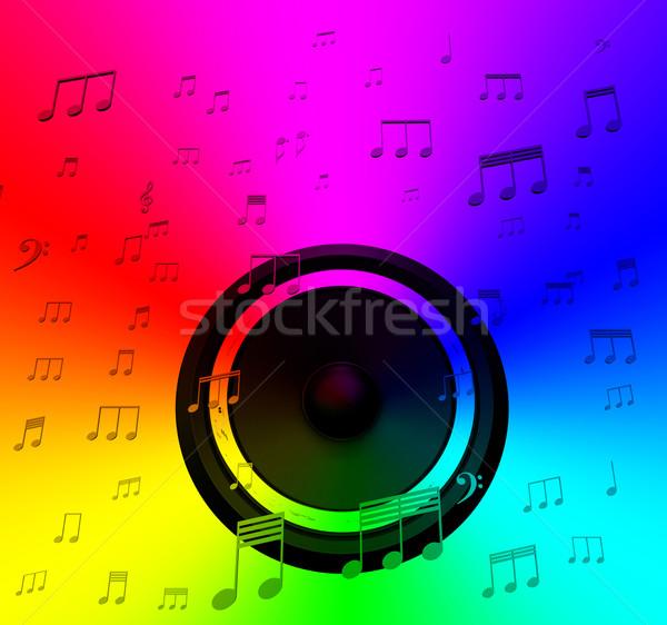 Orador notas musicales música disco concierto Foto stock © stuartmiles