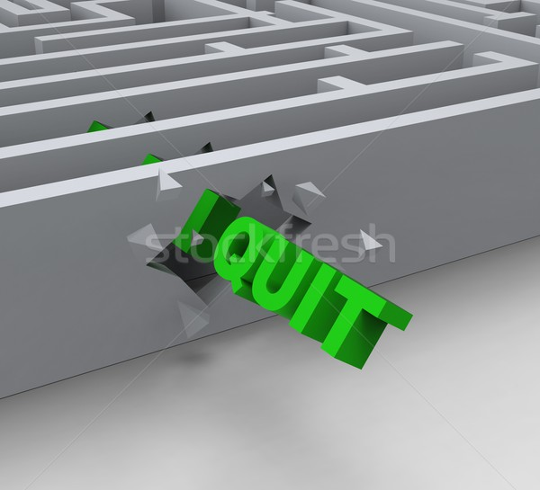 Quit Word Shows Resignation Or Resigning Stock photo © stuartmiles